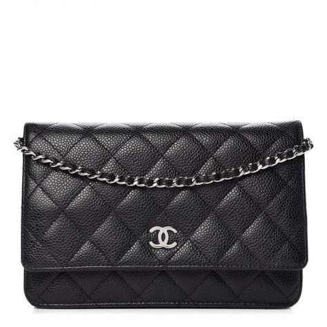 Chanel Wallet On Chain Quilted Black