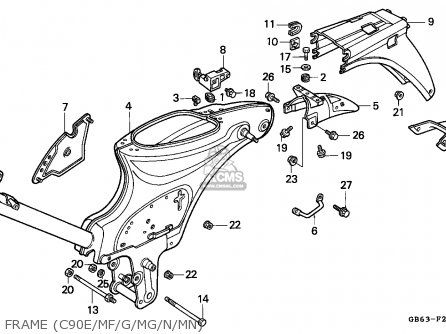honda c90cub c50 70 sebring type competition exhaust w free sealing rh pinterest com honda dream 100 parts manual honda dream parts manual