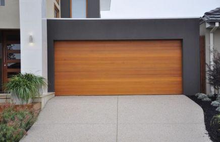15 Ideas House Exterior Wooden Garage Doors For 2019 Modern Garage Doors Wooden Garage Doors Wood Garage Doors