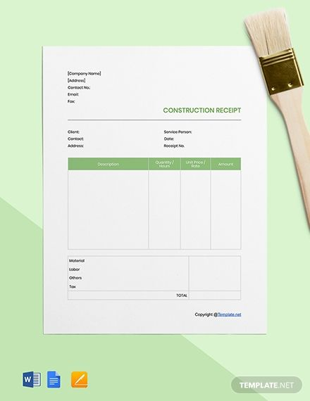 Free Hotel Receipt Template Pdf Word Doc Excel Apple Mac Pages Apple Numbers Illustrator Templ Receipt Template Templates Microsoft Publisher