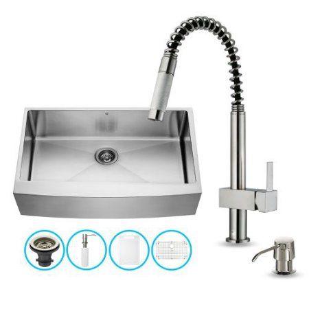 Home Improvement Apron Front Kitchen Sink Sink Single Bowl