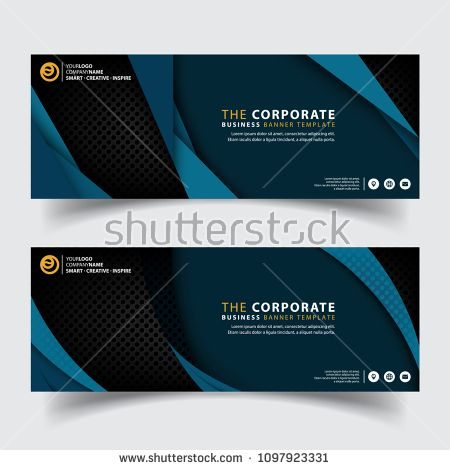 Horizontal Corporate Business Banner Vector Templates Clean