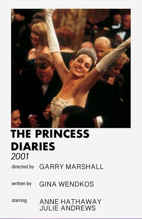 the princess diaries minimalistic movie poster