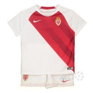 Home Set Completo Bambino As Monaco 2018 2019 Bianco Rosso Maglie ...