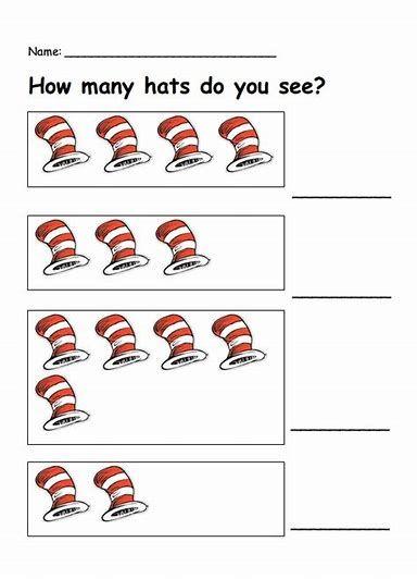 Image result for dr seuss preschool worksheets | Preschool ...