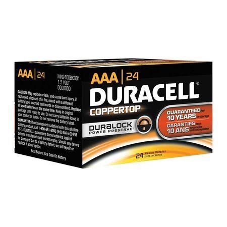 Duracell Mn2400bkd 17 50 Duracell Coppertop Aaa Alkaline Battery 24 Pk 1 5vdc Duracell Aaa Alkaline