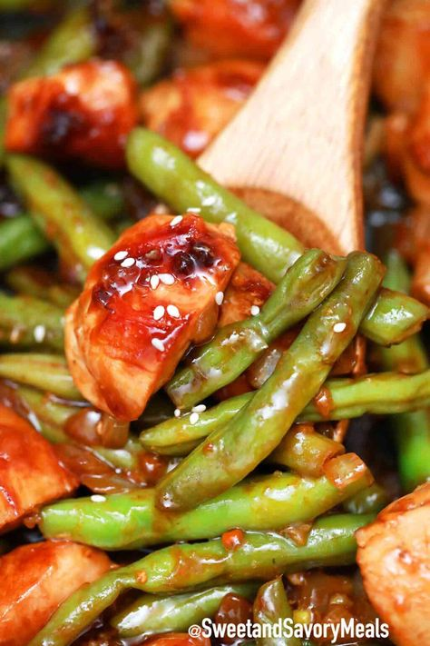 Panda Express String Bean Chicken Breast is an Asian dish made with tender chicken breast, green beans, and quickly stir-fried in a delicious ginger garlic sauce. #pandaexpress #copycatrecipe #chicken #chineserecipe #sweetandsavorymeals