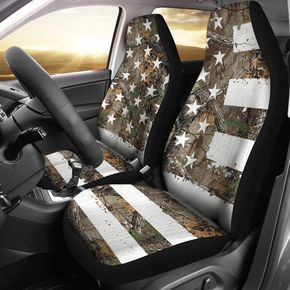 Enjoyable Camo American Flag Seat Covers Set Of 2 Jeep Ollllo Dailytribune Chair Design For Home Dailytribuneorg