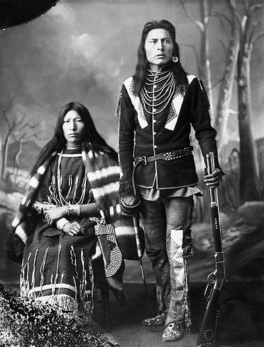 native american indians Image No: Title: First Nations man and his wife. Date: 1886 Photographer/Illustrator: Ross, Alexander J. Native American Wisdom, Native American Beauty, Native American Photos, Native American Tribes, Native American History, American Indians, American Symbols, Native Indian, Blackfoot Indian