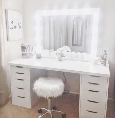 Makeup Vanity Mirror Walmart Along With Distressed Makeup Vanity Set Inside Makeup Vanity Desk Ideas This Abso Dressing Table Design Vanity Room Bedroom Vanity