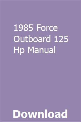 1985 Force Outboard 125 Hp Manual Riding Lawn Mowers Lawn Mower Mower