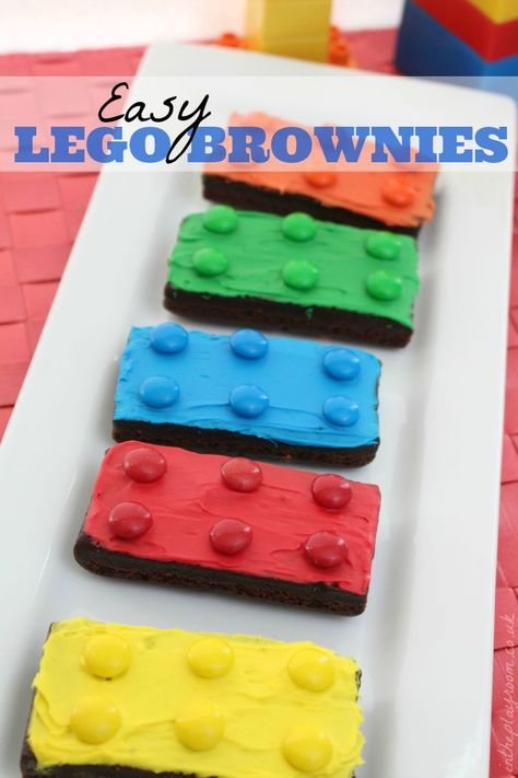 Easy Lego Brownies - Batman Party - Ideas of Batman Party - Super easy Lego brownies. This is the easiest Lego cake idea I've come across. What a great idea for kids lego party theme Lego Batman Party, Lego Batman Birthday, Lego Birthday Party, 5th Birthday, Birthday Ideas, Lego Batman Cakes, Superhero Party, Boy Birthday Cupcakes, Easy Kids Birthday Cakes