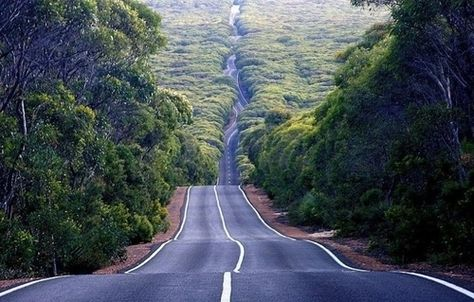 In a fast car this road would make me scream!