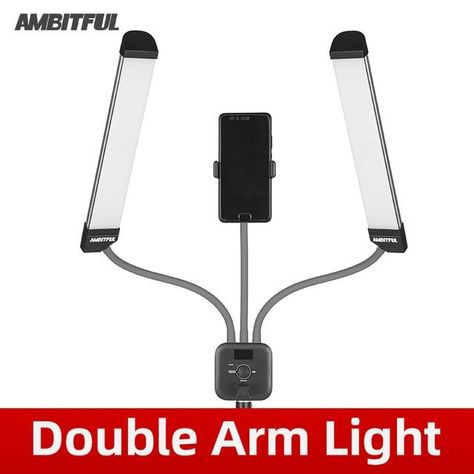 Double Arms Fill LED Light Strips with LCD Screen - United States / Double Arm Light