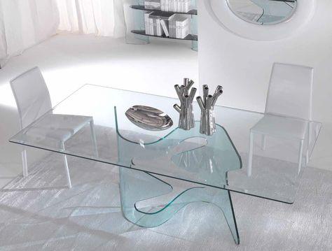 Tavolo Cristallo In Vetro.Risultati Immagini Per Tavoli In Cristallo Per Sala Da Pranzo