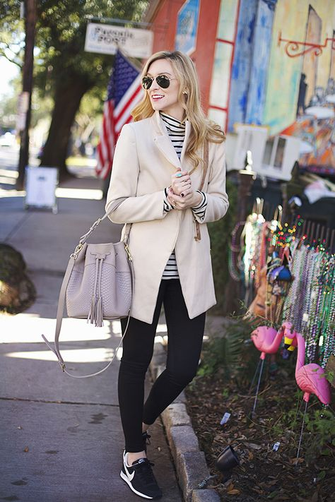 A Pinch of Lovely | Southern Fashion & Style Blog: Stripes and Sneakers