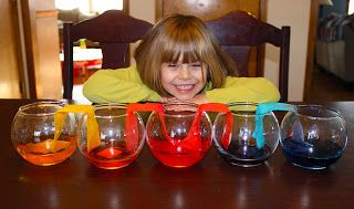 Water Transfer Experiment...fun for the kiddos...