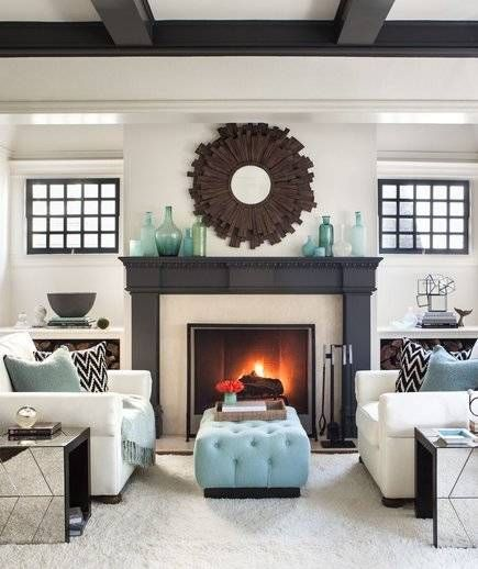 30 Easy And Unexpected Living Room Decorating Ideas Living Room With Fireplace Symmetrical Living Room Living Room Designs