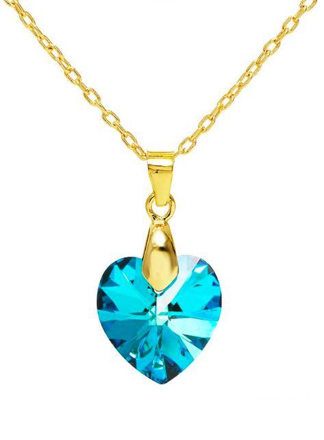 Cristales de Swarovski Precioso Collar de plata esterlina corazón de cristal Certificado
