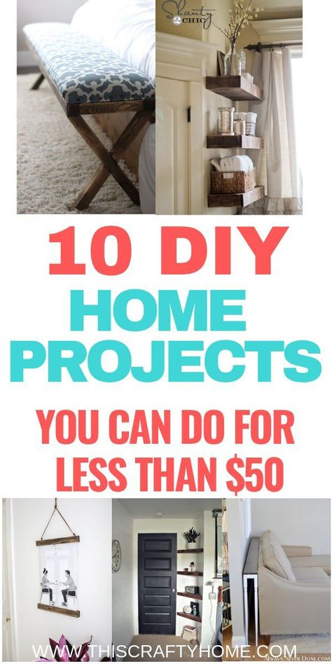10 DIY home projects you can do for less than $50