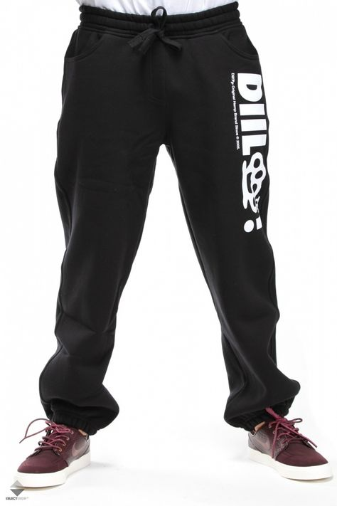 Spodnie Diil Kastet Black Mens Outfits Kr3w Street Wear