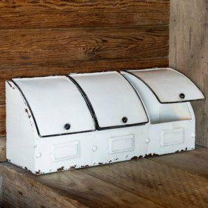Enameled Countertop Storage Bins Kitchen Bin Countertop Storage