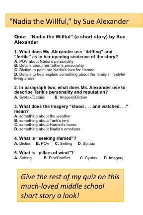 Nadia The Willful By Sue Alexander Quiz This Or That Questions