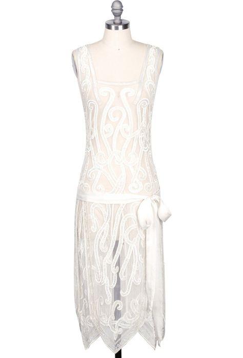 1920 S Beaded Handkerchief Gatsby Hip Sash Dress The