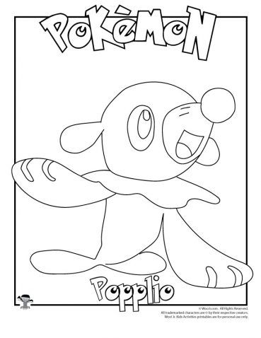 Popplio Coloring Page Woo Jr Kids Activities Pokemon Coloring Pages Pokemon Coloring Pokemon Coloring Sheets
