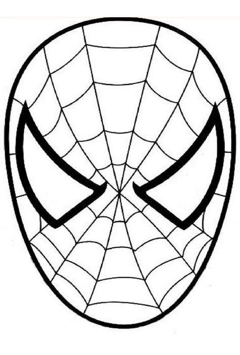 Ausmalbild Spiderman Den Spinnenmann Maske Spiderman Face