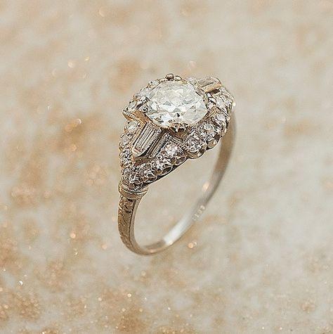 Sofiaz Choice: 1930s Diamond Ring via Etsy
