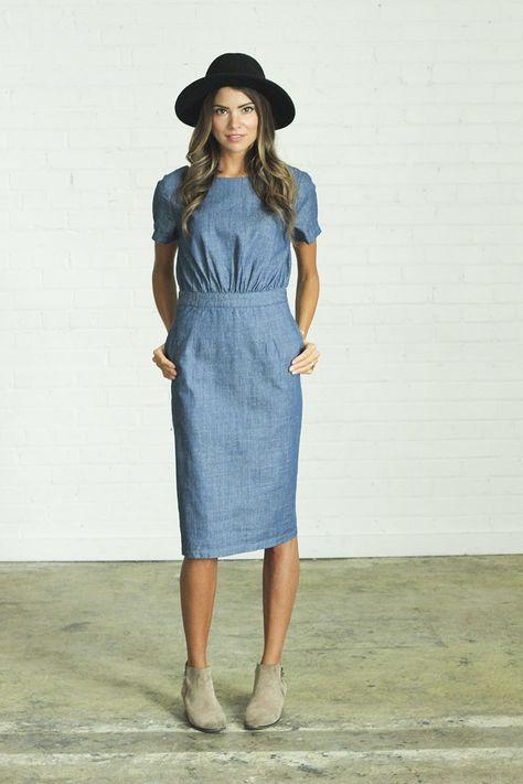 Chambray Dress   clad & cloth 5.jpg