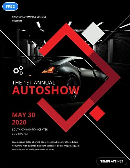 Free Car Show Flyer Template Word Doc Psd Apple Mac Pages Illustrator Publisher Car Advertising Design Flyer Event Poster Design