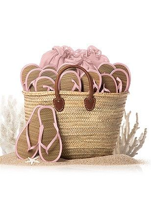 Having a beach wedding?  This tote is perfect for holding flip flops for your guests! http://rstyle.me/n/u4yyznyg6