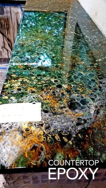 You can create this epoxy countertop look on your existing laminate countertops with our create-your-own-countertop-kit! You can create this epoxy countertop look on your existing laminate countertops with our create-your-own-countertop-kit!