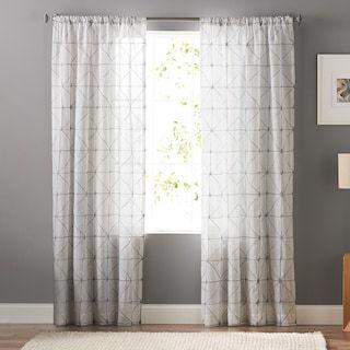 Sonoma Goods For Life 1 Panel Batik Embroidery Sheer Window