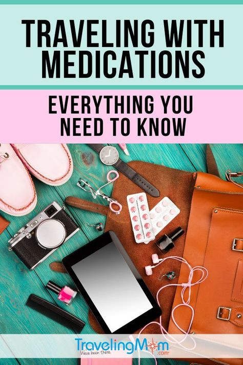 Before traveling with medications, these are the must-know tips when packing your bags. Whether it's navigating a road trip or getting through TSA at the airport, get all the details on travel with meds. #TMOM #Medication #TravelTips | TravelingMom | Medical Travel | Special Needs Travel | Grandparent Travel | Food Allergy