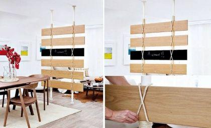 Raumteiler Ideen Zum Selbermachen Diy Trennwand Fur Zimmer Selber Bauen In 2020 Raumteiler Ideen Diy Raumteiler Ideen Stoff Raumteiler