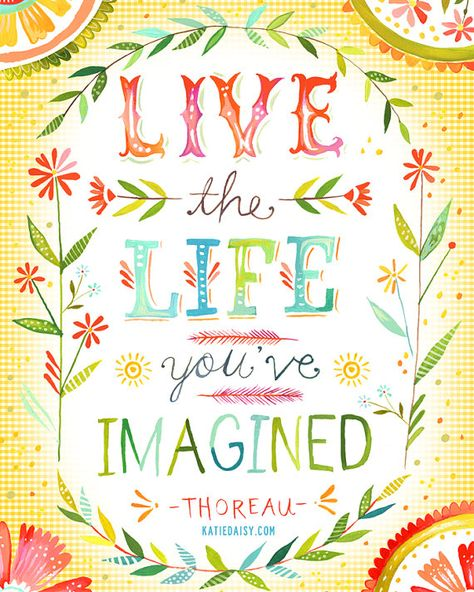 Live The Life You've Imagined vertical print