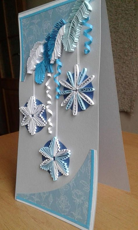 Christmas gift Quilled Christmas xmas Quilling card Greeting by sophia