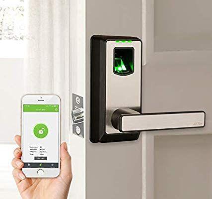 Amazon Com Zkteco Electronic Smart Lock Biometric Fingerprint Door Lock With Bluetooth Keyless Home Entr Fingerprint Door Lock Biometric Door Lock Door Locks