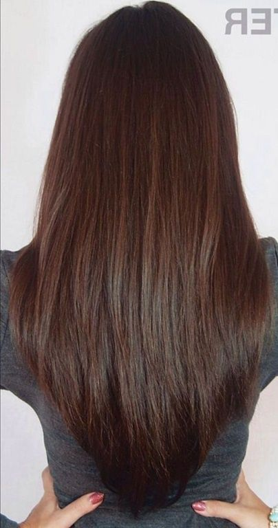 Lange Haare Stufenschnitt Hinten Frisuren Lange Haare