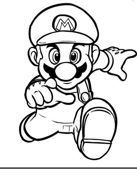 Desenho Do Super Mario Para Colorir Desenho Para Colorir Net