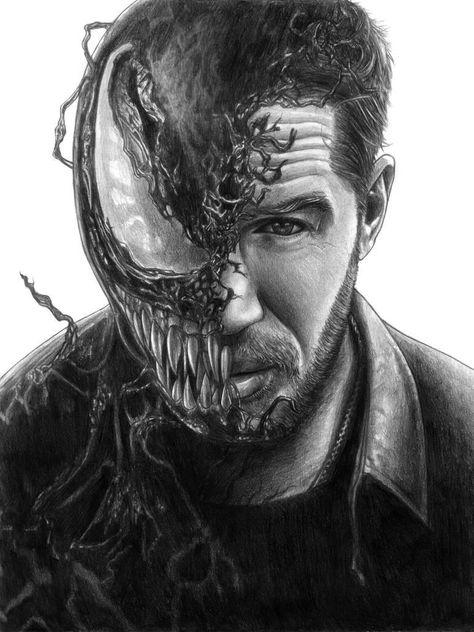 My venom drawing
