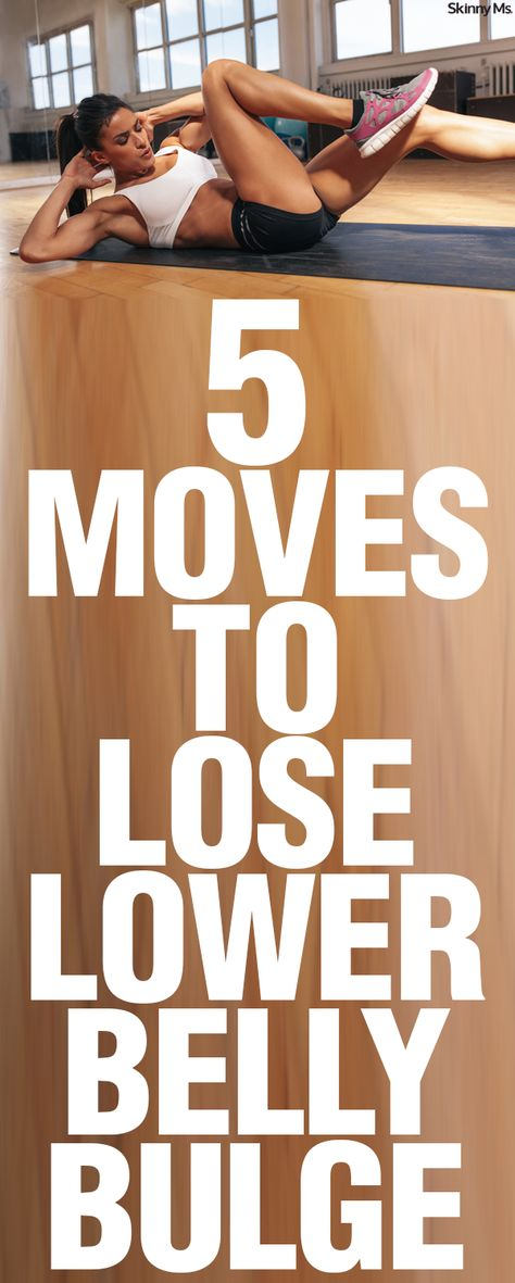 No more hanging over your pants! Here are 5 Moves to Lose Lower Belly Bulge.