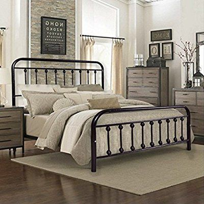 Amazon Com New Espresso California King Size Platform Bed With