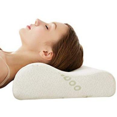 Cervical Contour Bamboo Neck Pillow Memory Foam Chiropractic