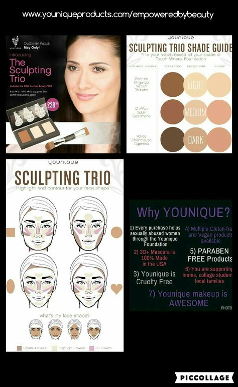 May Kudos - the amazing Sculpting Trio PLUS free Contour Brush - get yours whilst stocks last at www.youniqueproducts.com/empoweredbybeauty