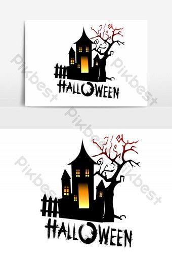 Happy Halloween Haunted House Vector Graphic Element Png Images Ai Free Download Pikbest Halloween Poster Halloween Haunted Houses Halloween Design