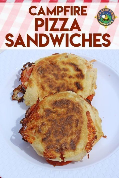 Campfire Pizza Sandwiches Recipe - Want pizza while camping? Create these Campfire Pizza Sandwiches in a pie iron over the fire. This campfire sandwich will become a family favorite! Camping with family and friends for a hike Pizza Sandwich, Sandwich Recipes, Sandwich Ideas, Sandwiches, Camping Menu, Camping Hacks, Family Camping, Outdoor Camping, Camping Foods